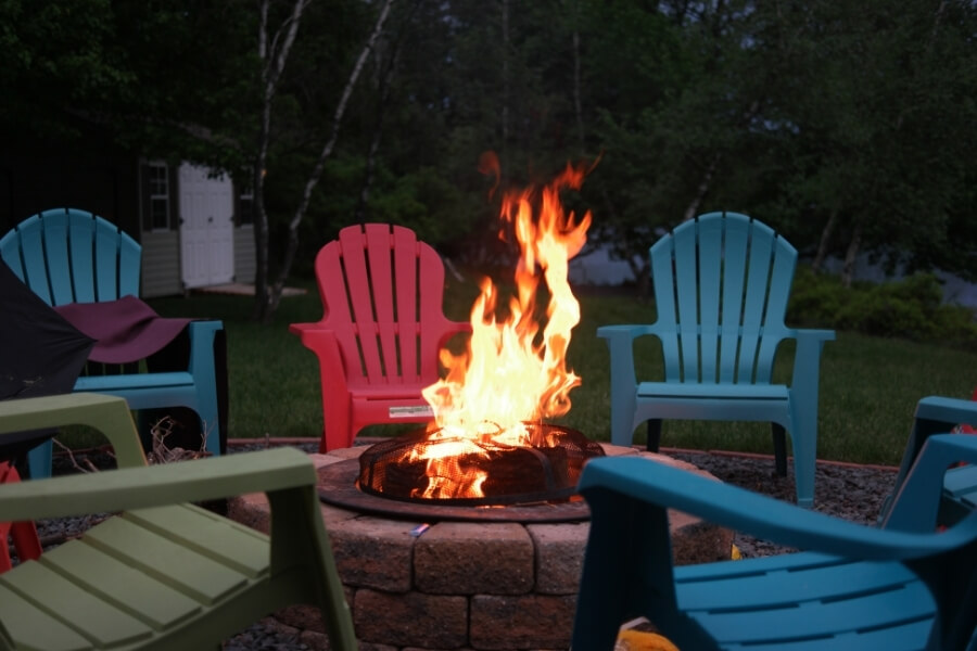 Outdoor Chairs Surrounding Fire Pit